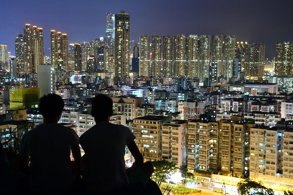 あえて観光客が減っているときにHSBC香港のメインテナンス